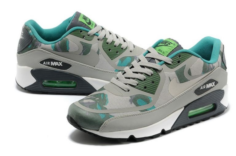 Mens Nike Air Max 90 Premium Tape Runinng Shoes Gamma Green Black Spruce Mine Grey
